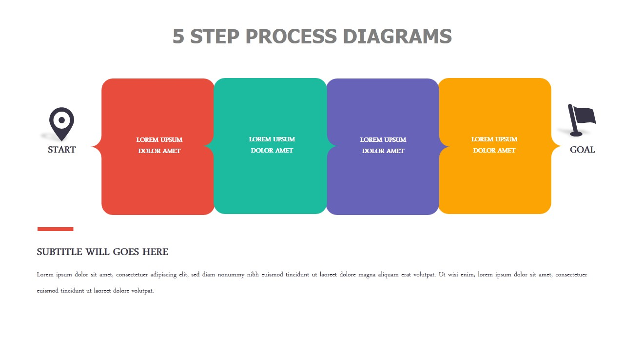 5 Step Process Diagrams