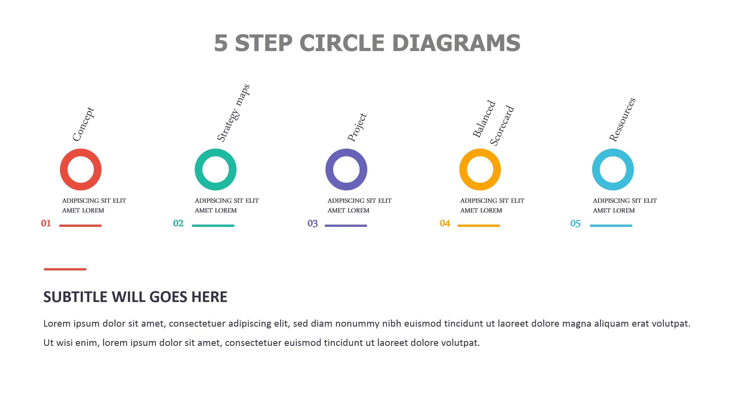 5 Step Circle Diagrams
