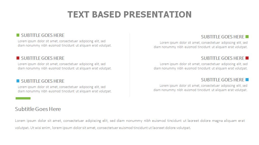 Text Based Presentation