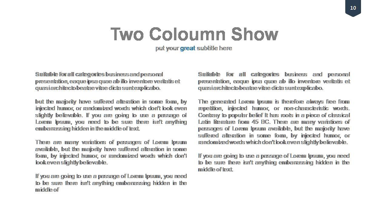 List and Column Show Templates