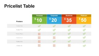 Price Table PowerPoint Templates