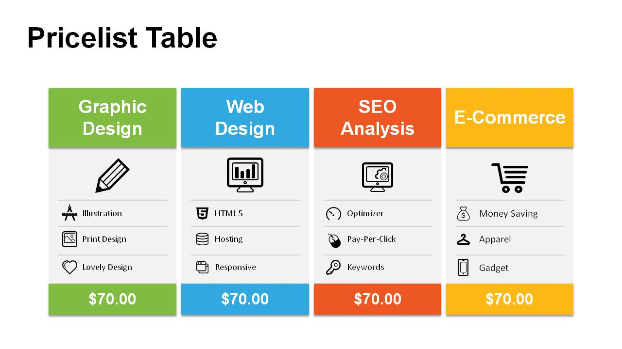 Price table powerpoint templates powerslides price table powerpoint templates toneelgroepblik Choice Image