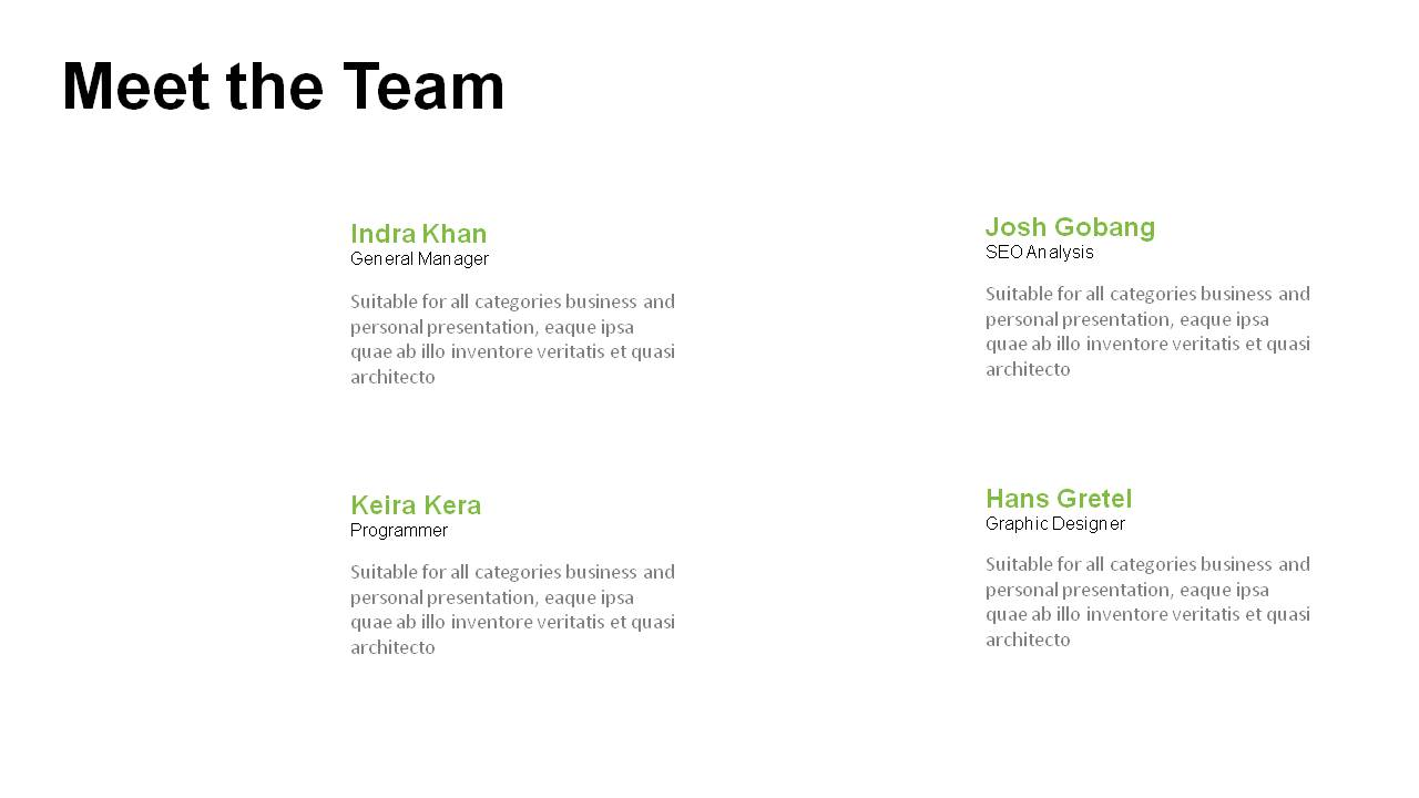 meet the team powerpoint templates