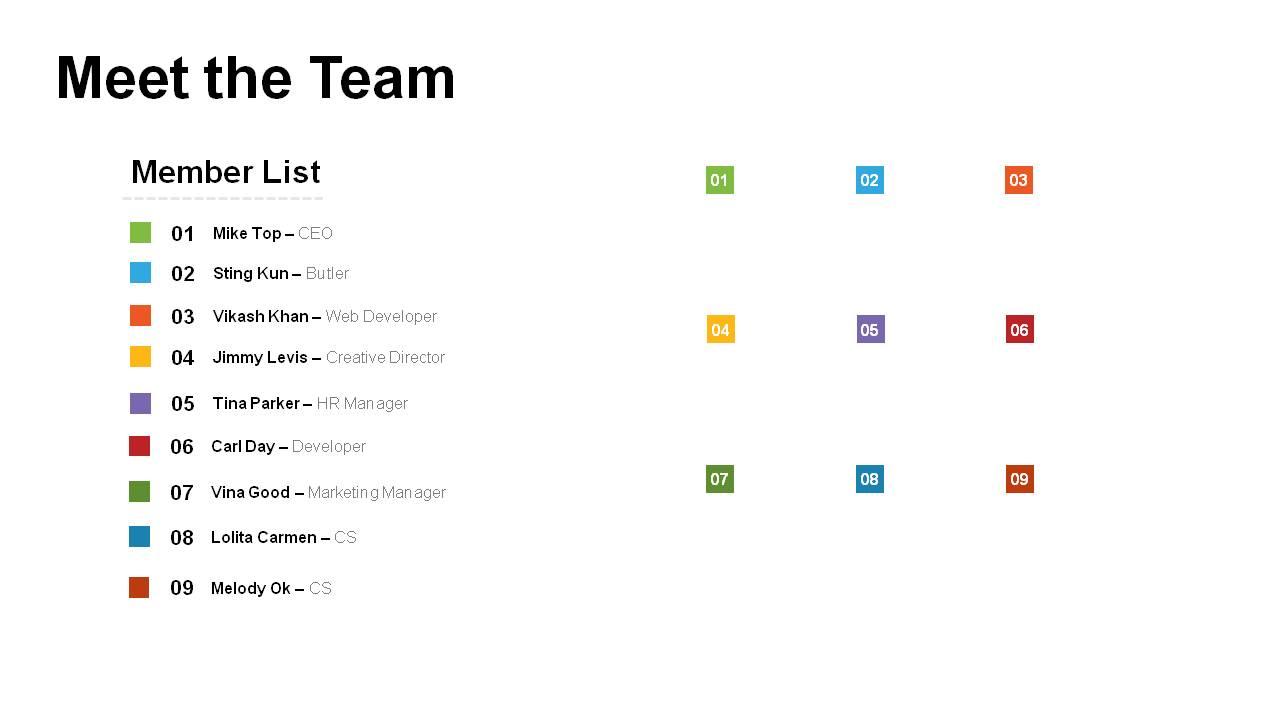 meet the team powerpoint templates