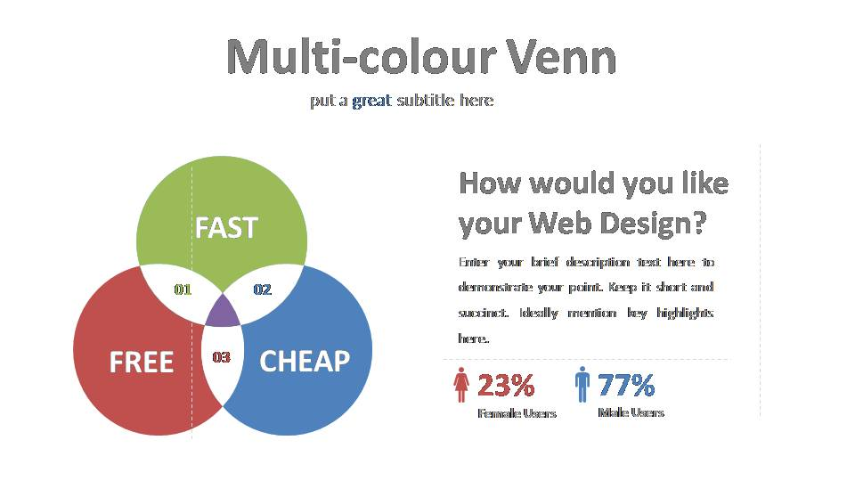 Multi-color Venn Diagram Template