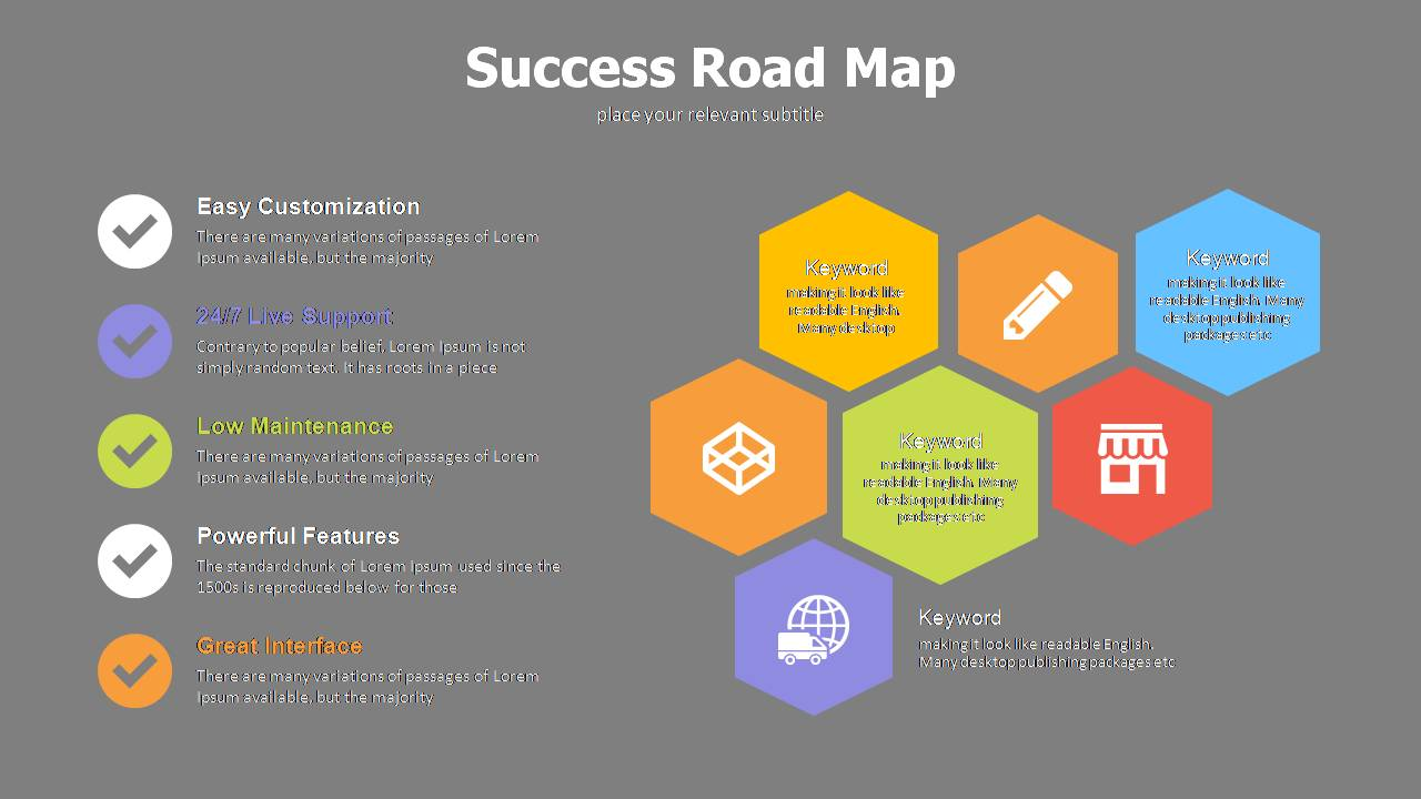 goal setting with roadmap powerpoint templates
