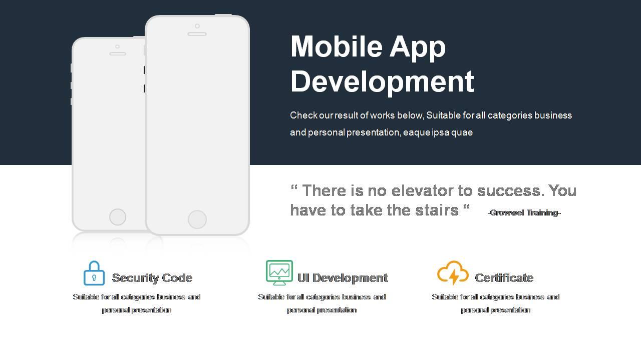 mobile app development templates powerslides. Black Bedroom Furniture Sets. Home Design Ideas