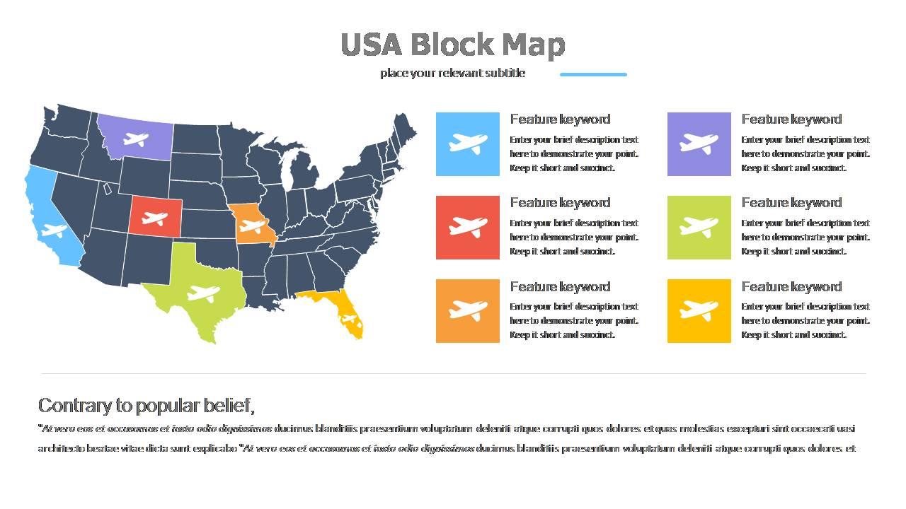 USA Blocks Map