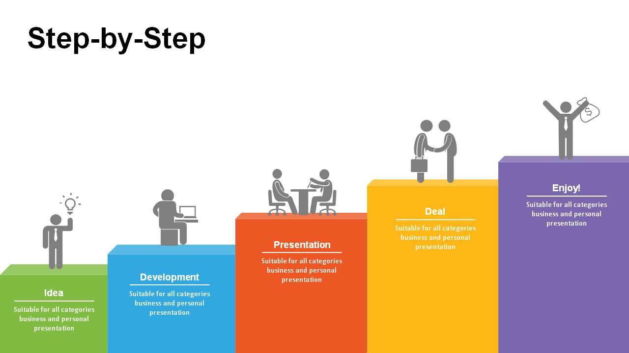 3d steps powerpoint templates