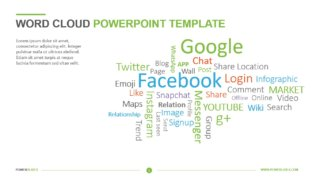 Word Cloud PowerPoint Template