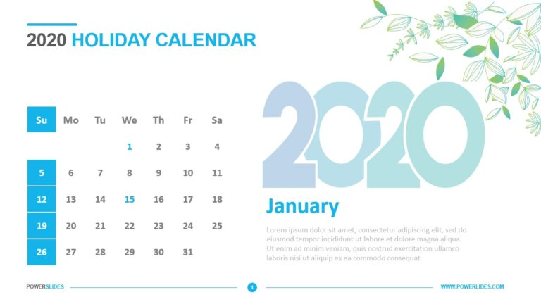 2020 Holiday Calendar
