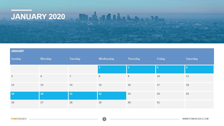 Fillable Calendar 2020