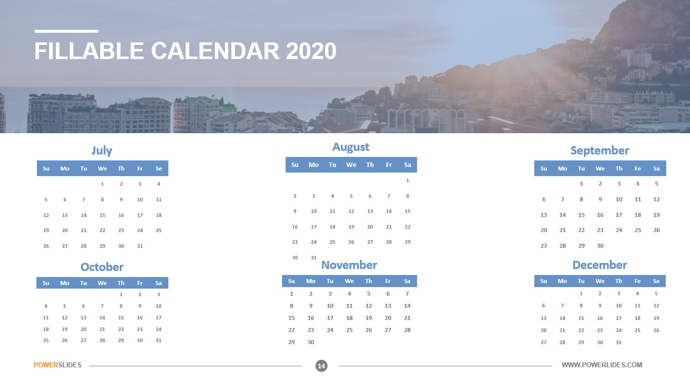 Fillable Calendar 2020 | Download Now | Powerslides™