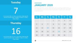 Monthly Calendar 2020