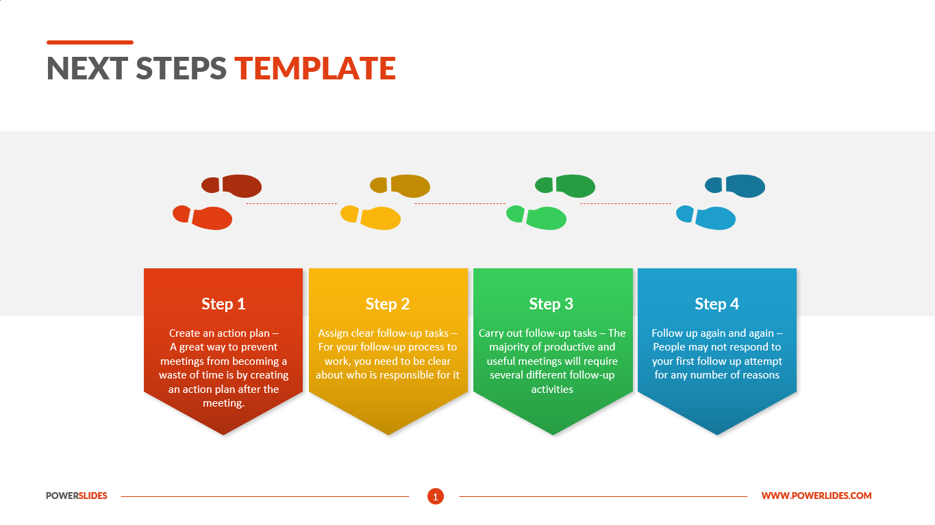 Next Steps Template