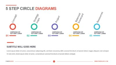 5 Step Circle Diagrams